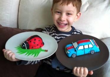 Araba Uğur Böceği Yaş Pastaları