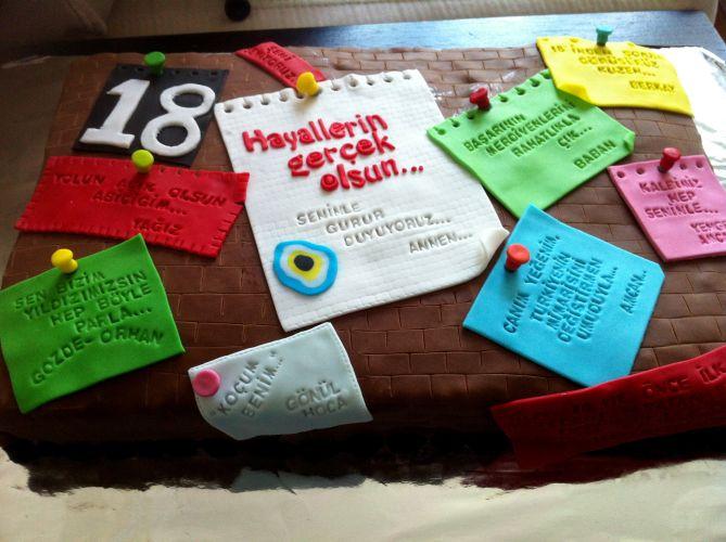 18 Yaş Üniversite Yaş Pasta